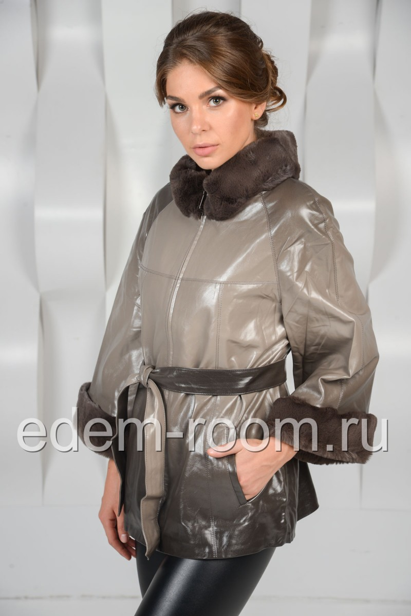 Куртка на синтепоне с мехом
