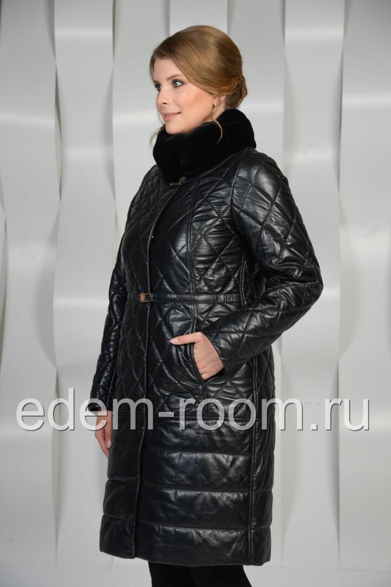 Кожаное пальто для женщин
