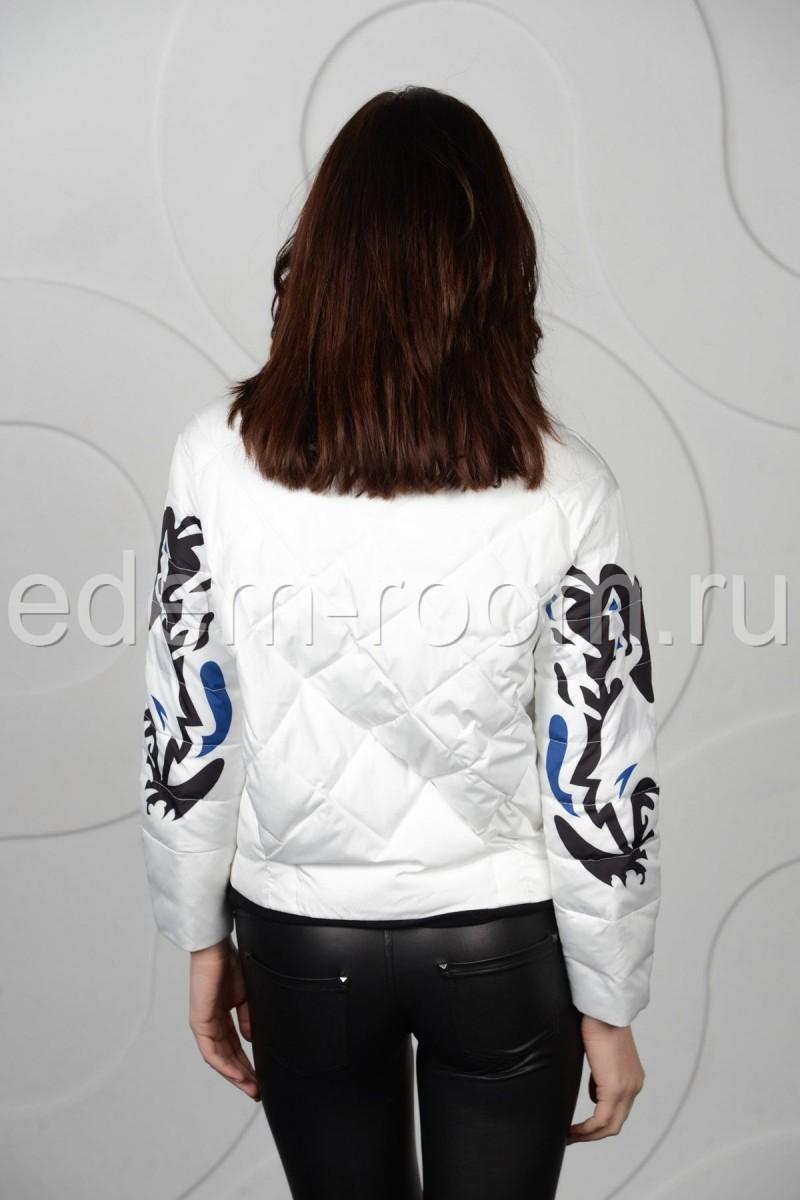 Белая укороченная куртка