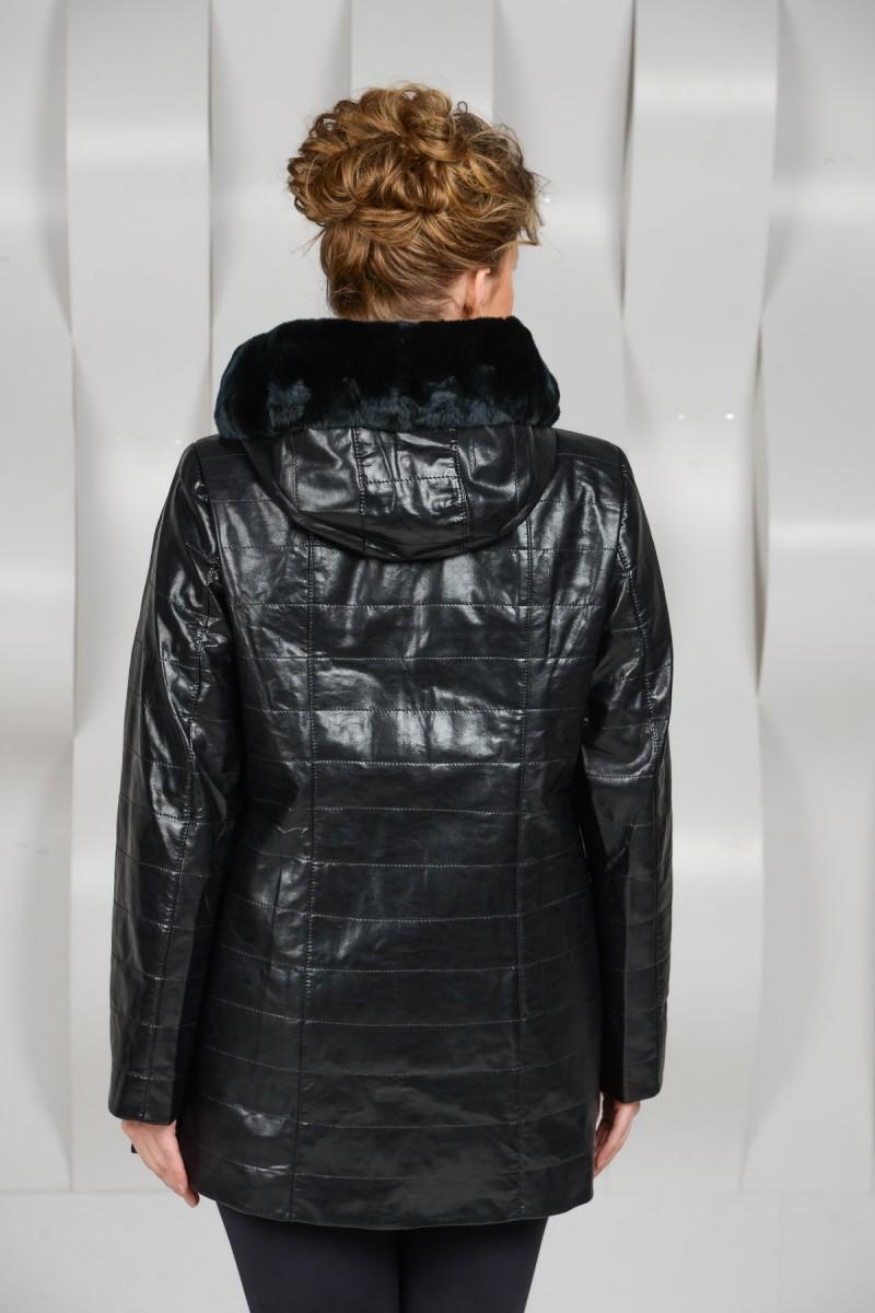 Куртка из эко-кожи на синтепоне