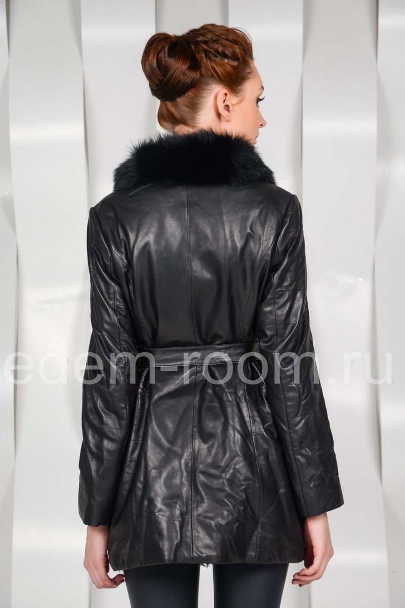 Кожаная куртка - дублёнка на меху