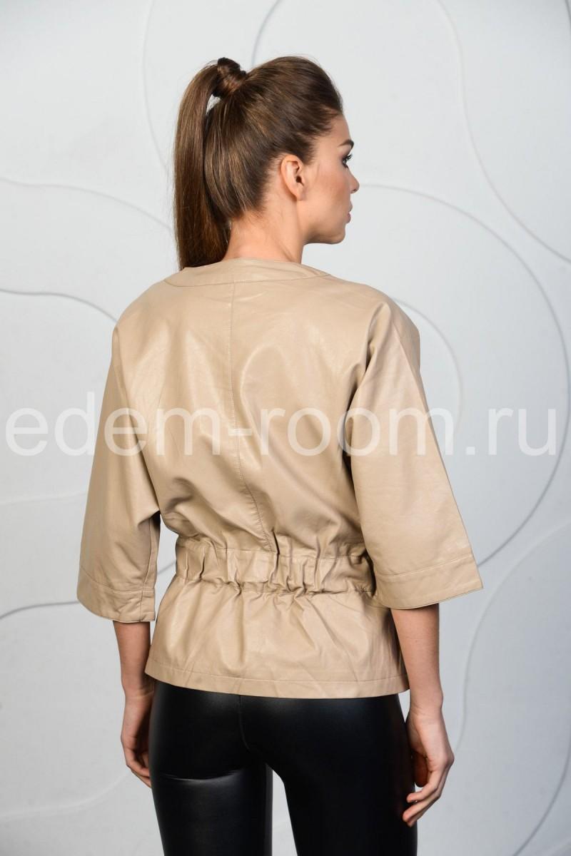 Летняя куртка из экокожи