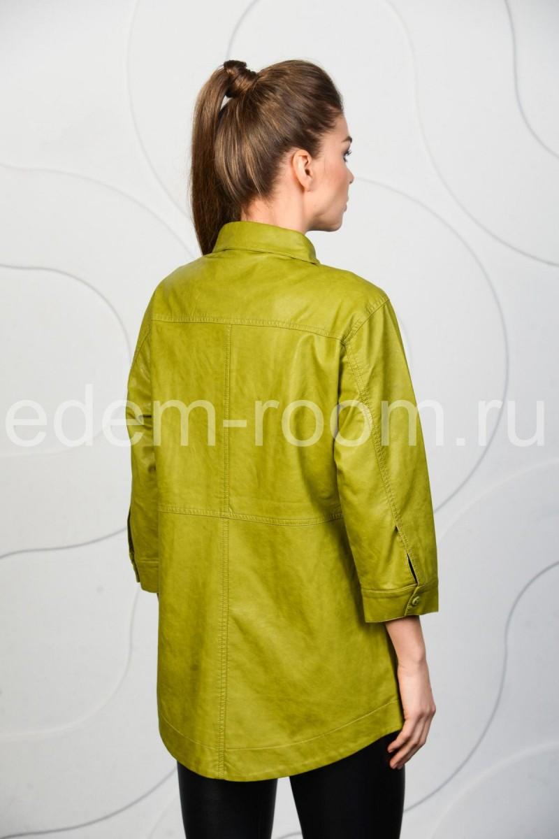 Куртка - рубашка из эко-кожи