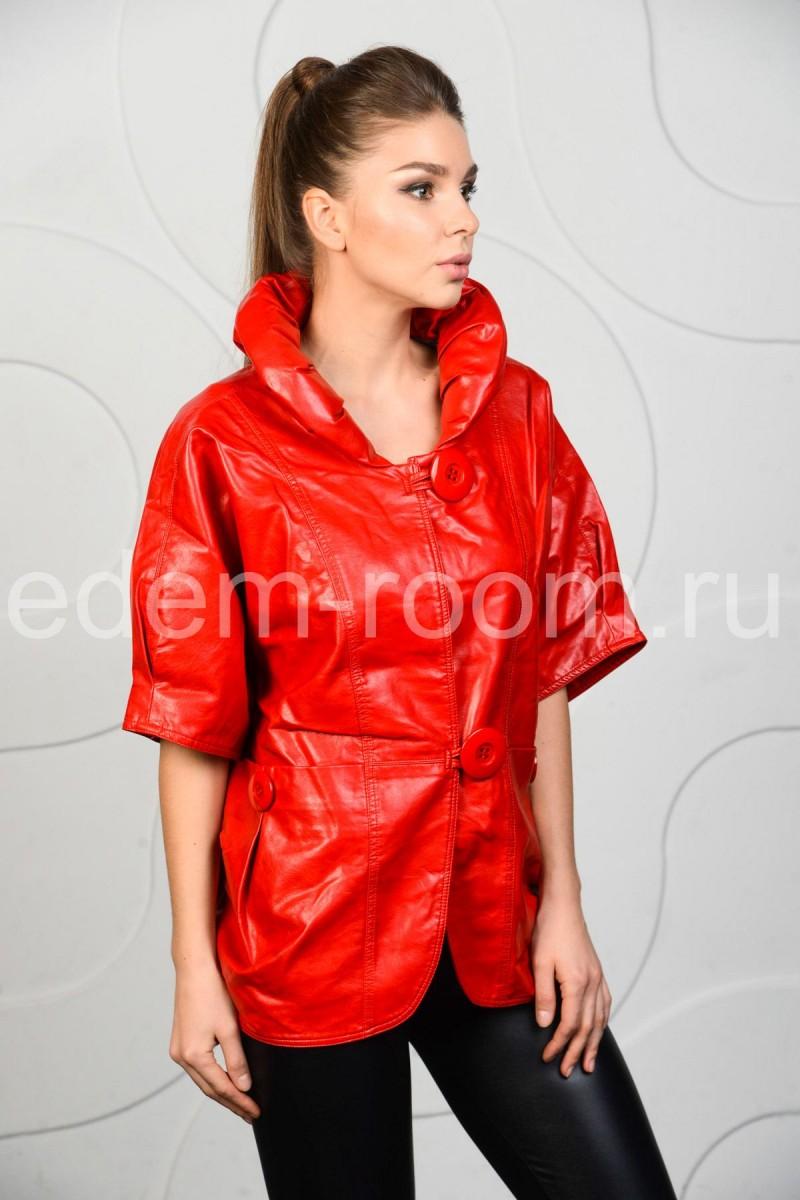 Красная куртка для больших размеров