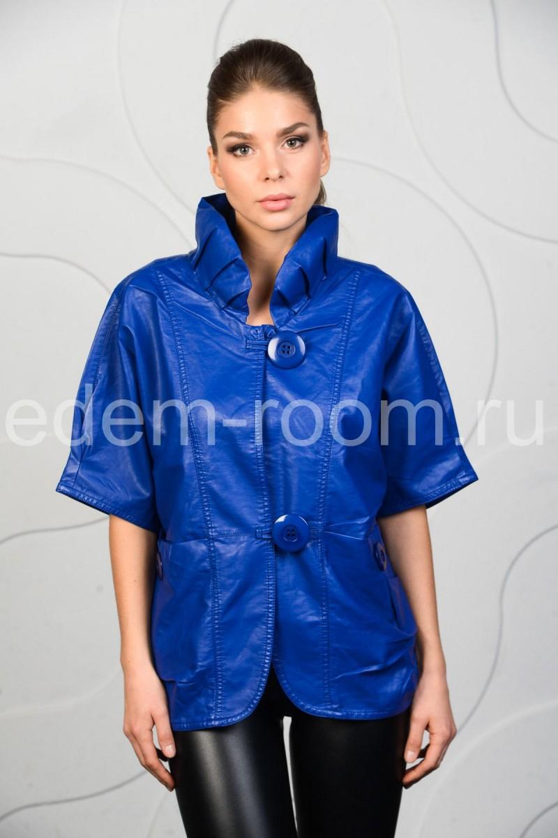 Синяя куртка для большого размера