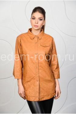 Рубашка из эко-кожи