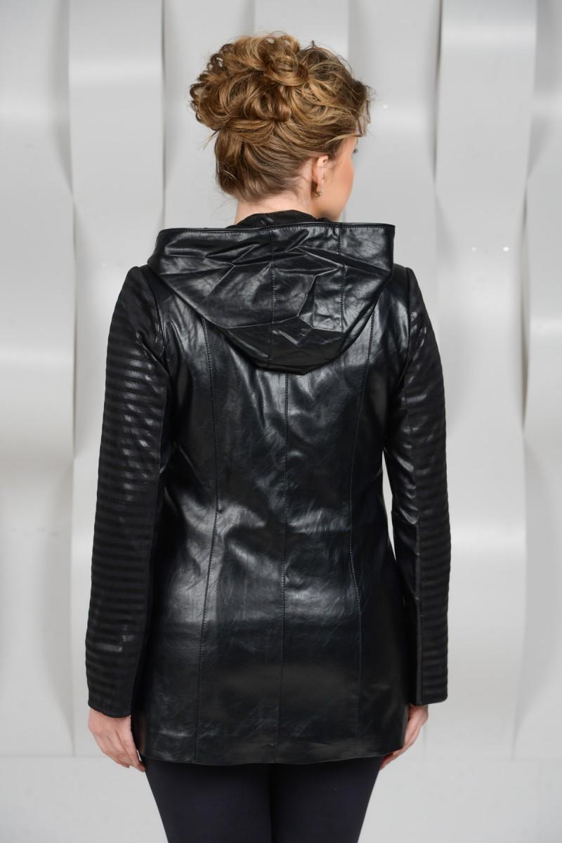 Куртка из экокожи на синтепоне