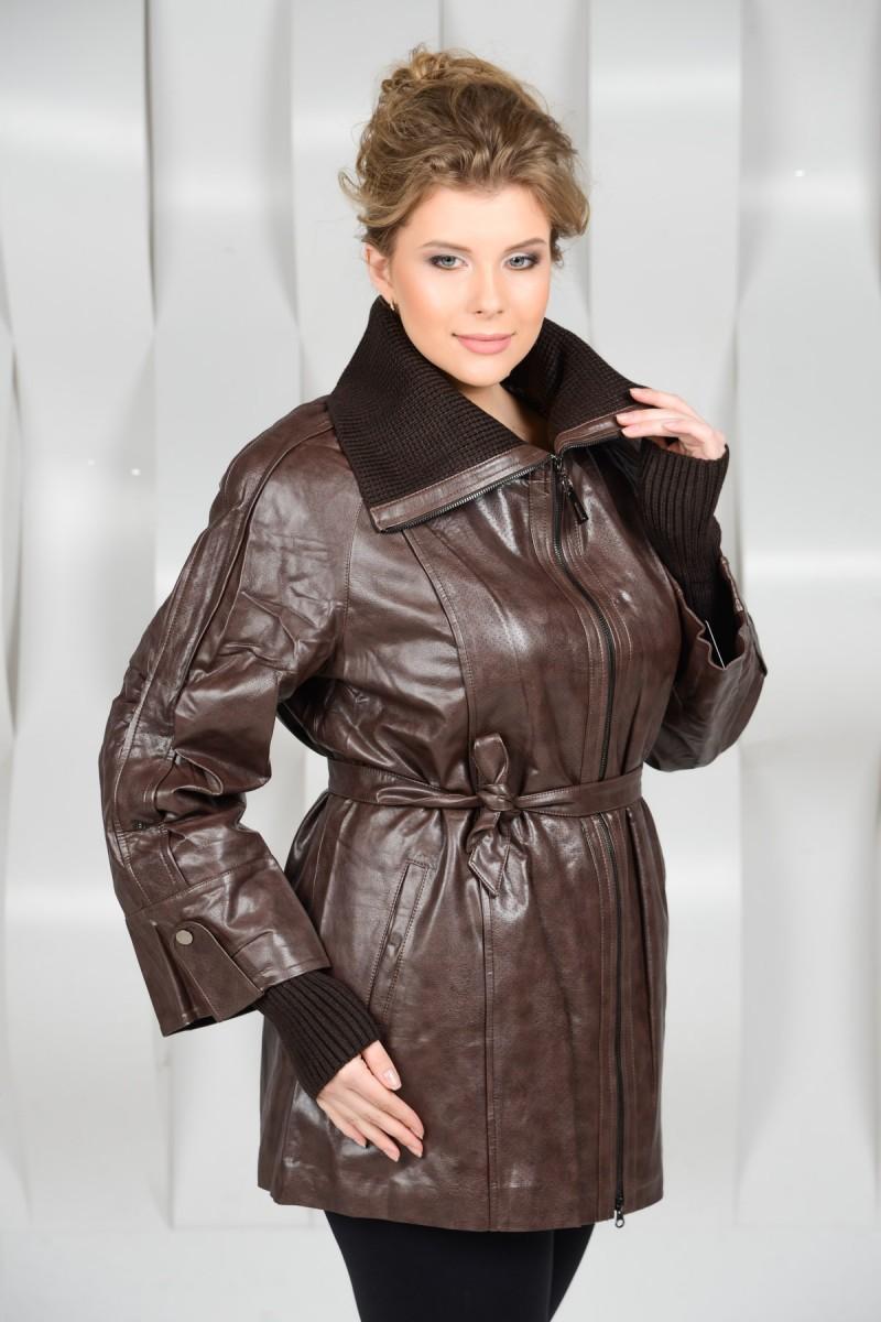 Удлинённая куртка из искусственной кожи