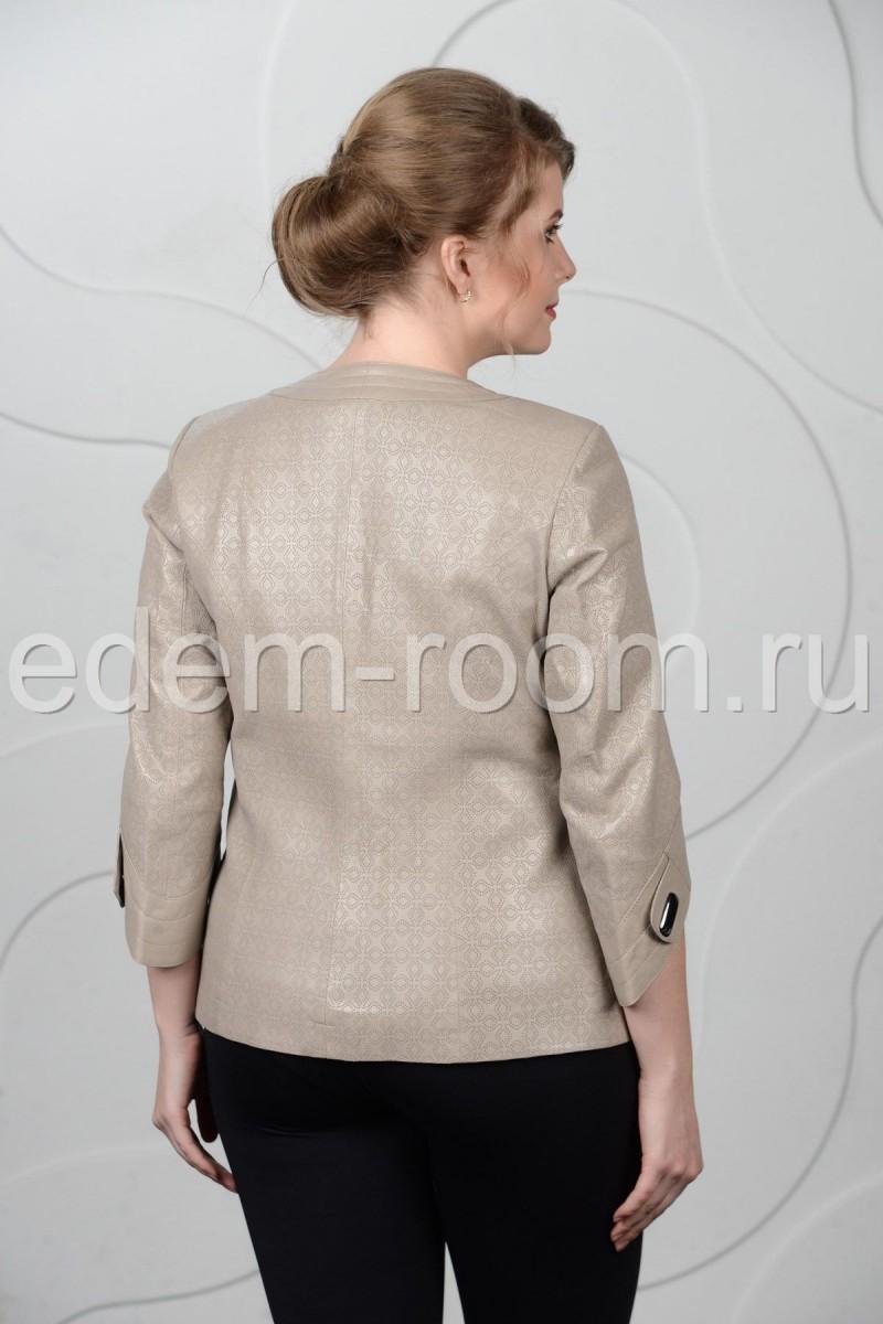 Весенне-летняя куртка из перфорированная кожи
