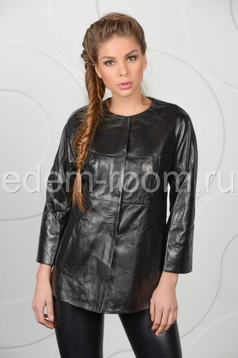 Комфортная куртка из кожи