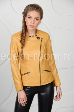 Весеняя кожаная куртка