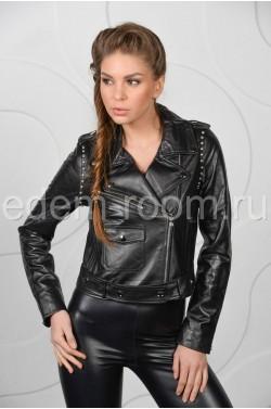 Весенняя женская кожаная куртка - Косуха