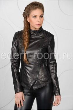 Весенняя женская кожаная куртка из натуральной кожи