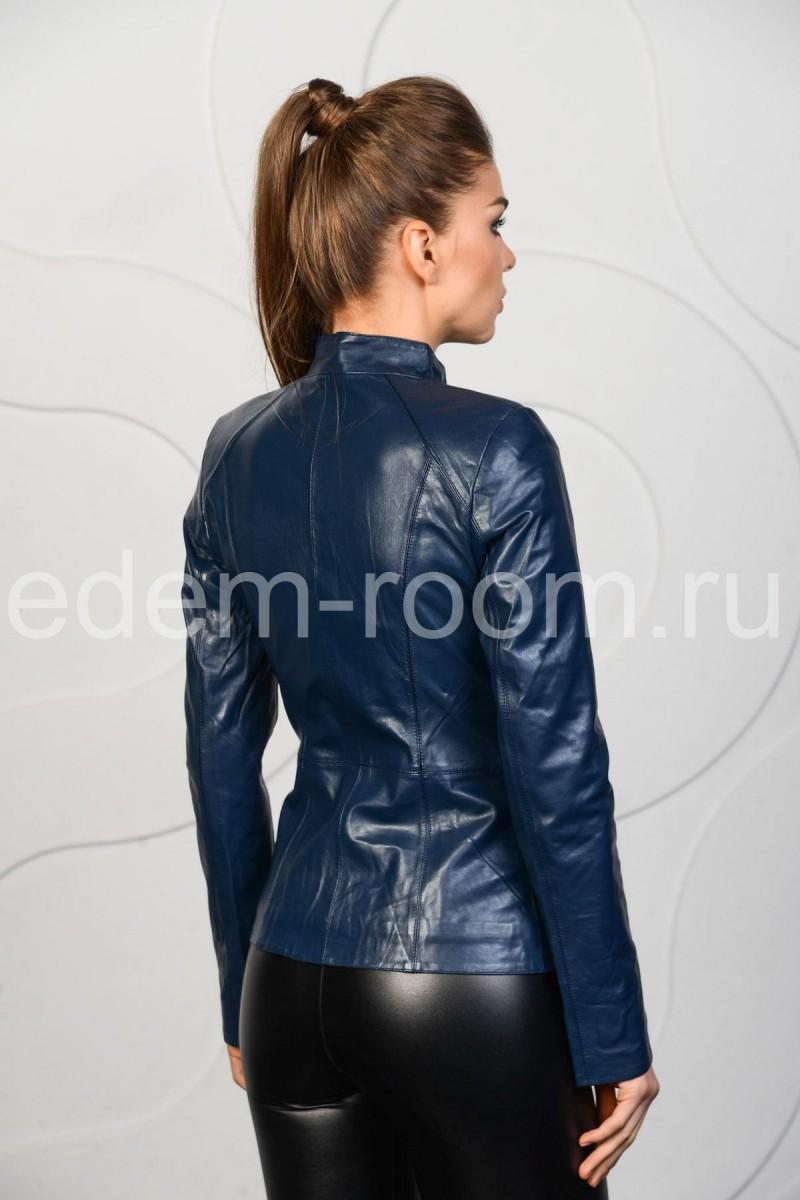 Осеннее -весенняя кожаная куртка женская
