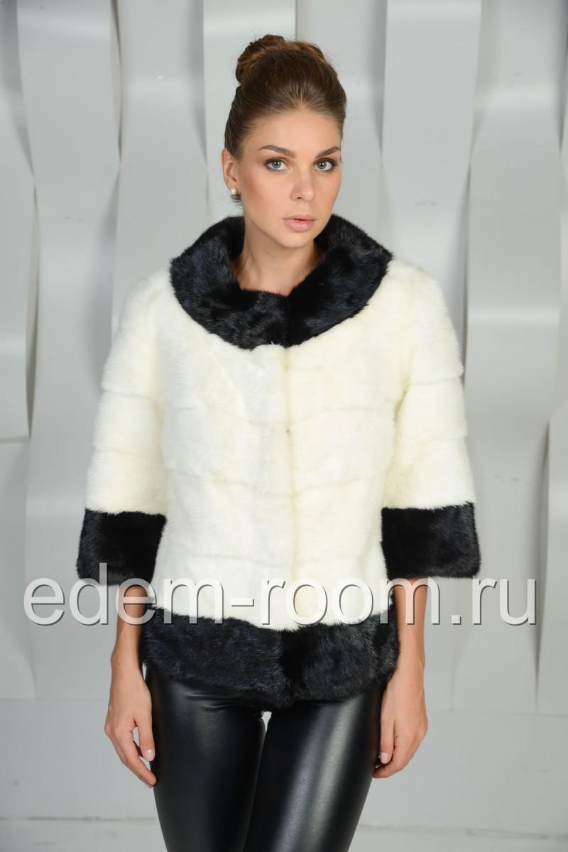 Красивая норковая куртка