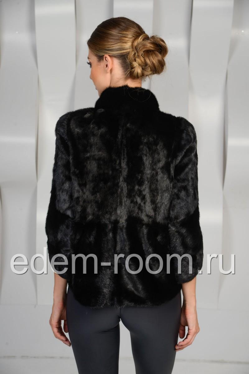 Норковая куртка с укороченными рукавами
