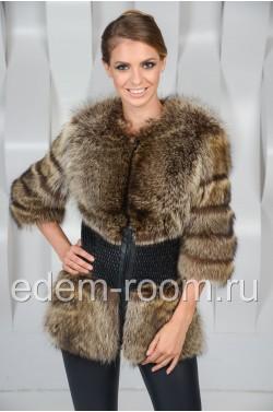 Меховая куртка из енота