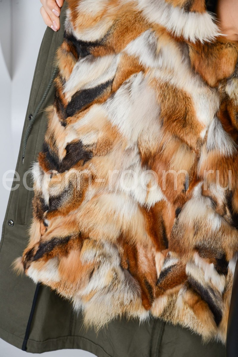 Меховая парка из лисы