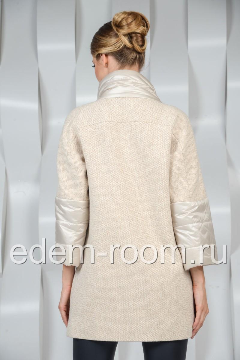 Шерстяное пальто - воротник стойка