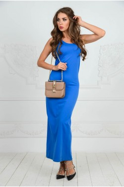 Синее летнее платье