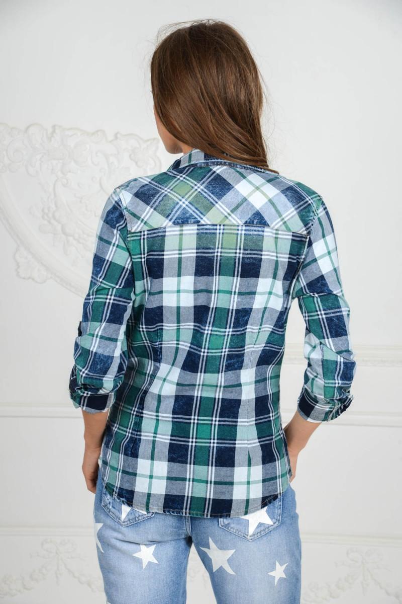 Модная рубашка в клетку