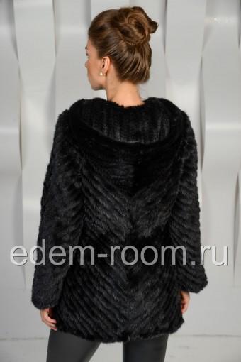 Норковая вязаная куртка