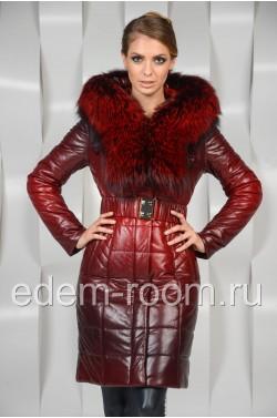 Тёплое пальто с мехом