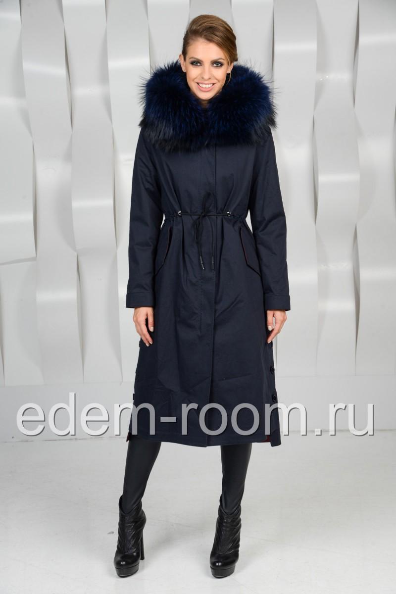 Удлинённая зимняя парка - пальто