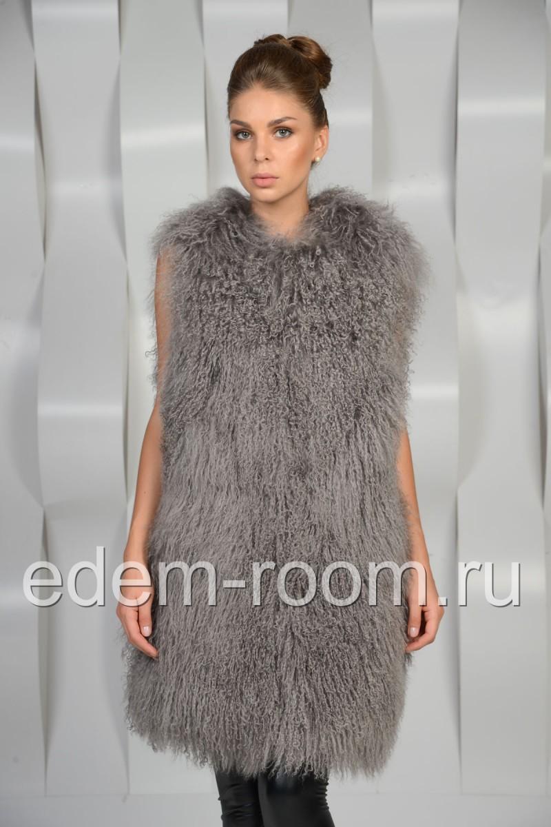 Серый жилет из ламы