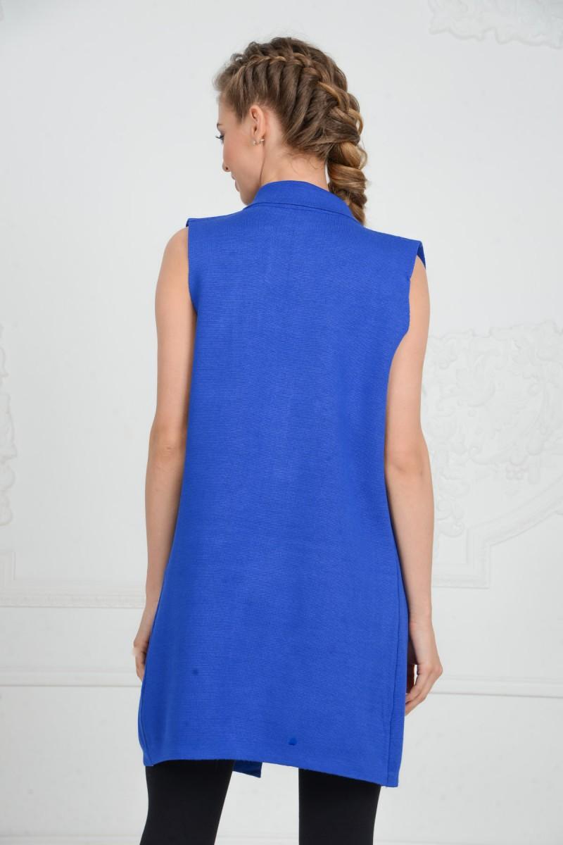 Синяя жилетка
