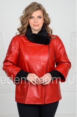 Кожаная куртка больших размеров на межсезонье