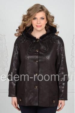 Куртка из эко-замши на большие размеры