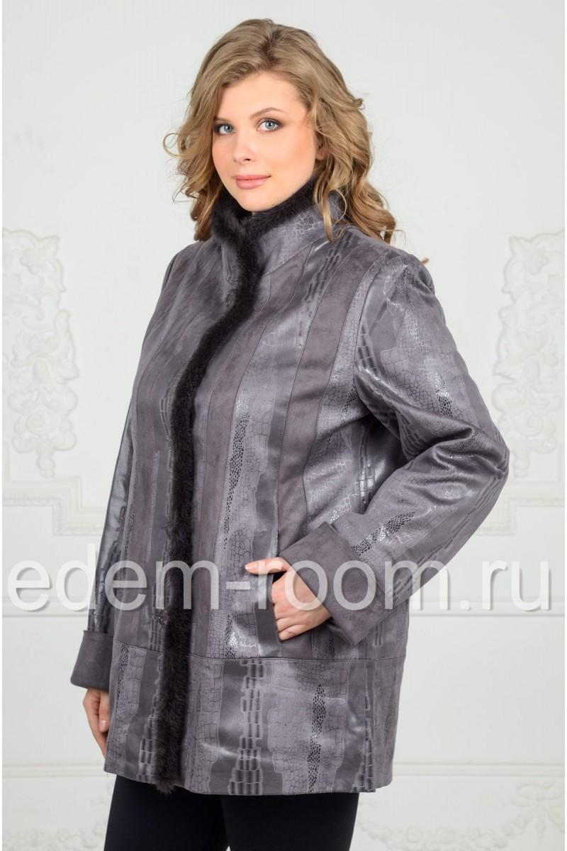 Демисезонная куртка на большие размеры