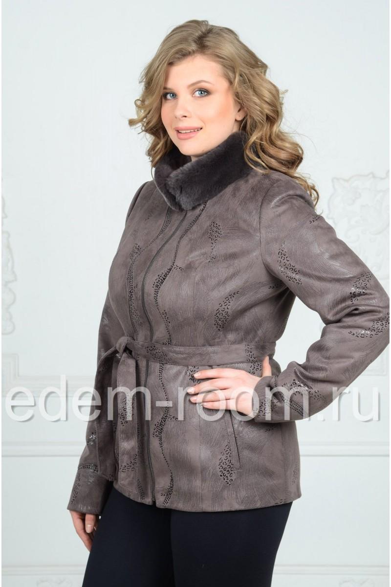 Куртка для межсезонье из экозамши