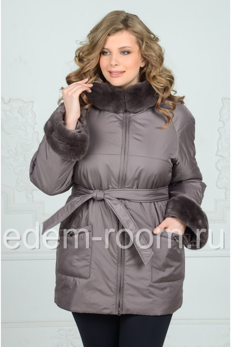 Утеплённая куртка для больших размеров