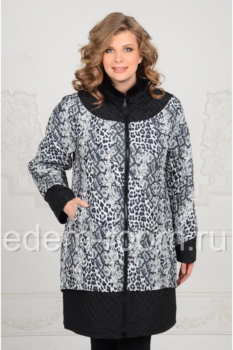 Демисезонное пальто большие размеры