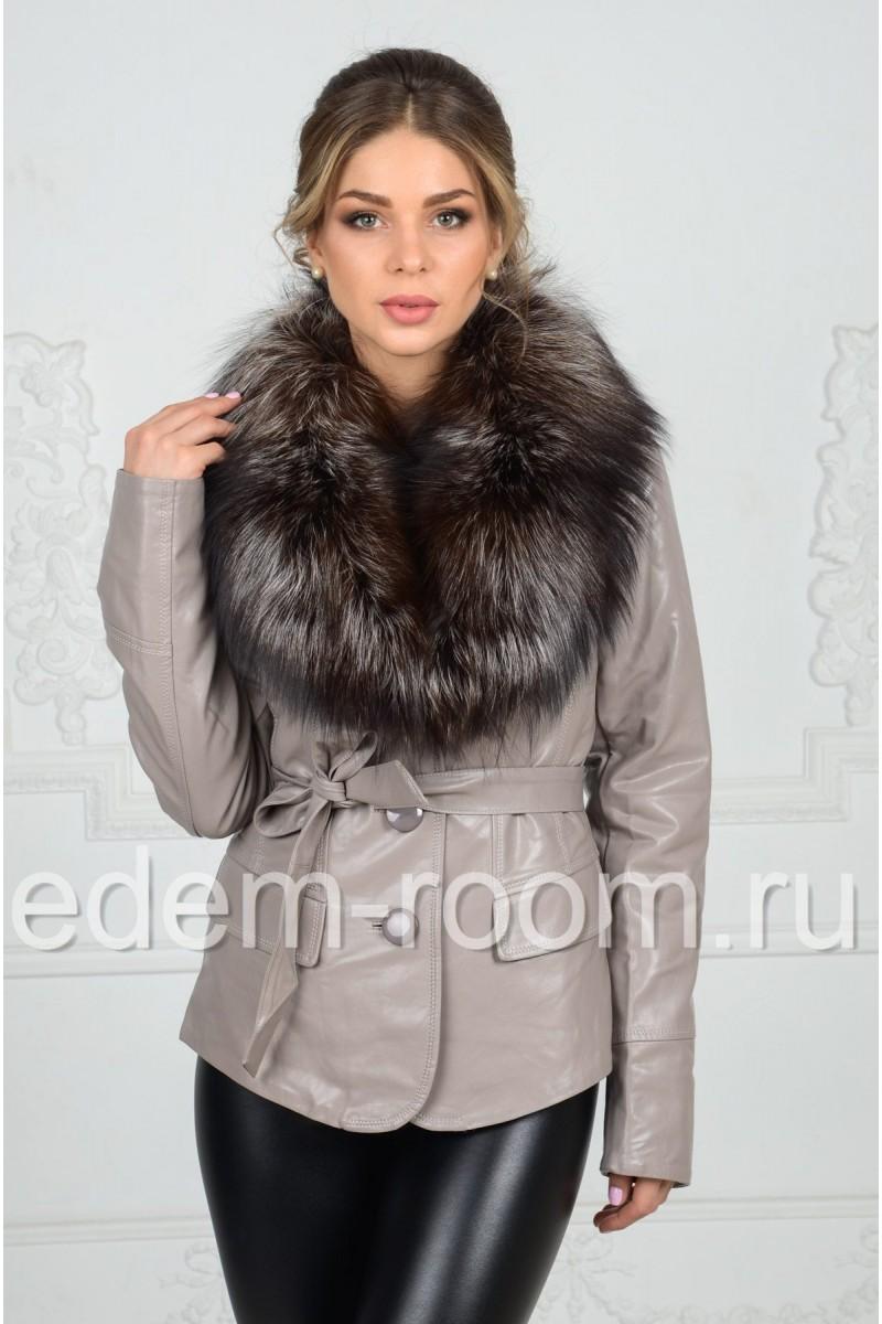 Куртка из эко-кожи на демисезонную погоду