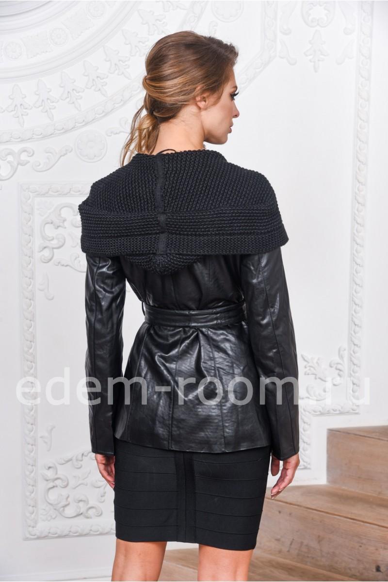 Куртка на осень-весну из экокожи с поясом