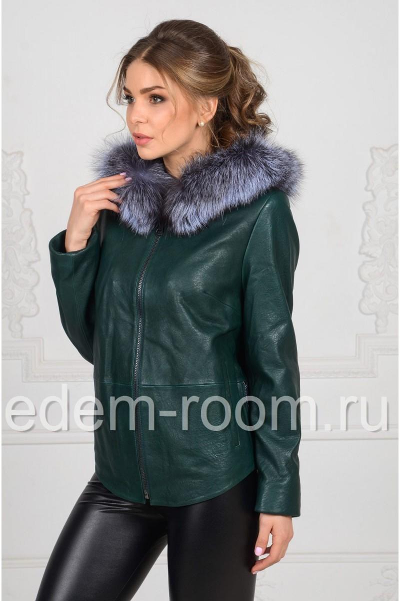Кожаная куртка на демисезонную погоду