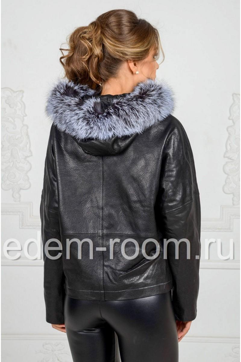 Современная куртка из кожи для весны