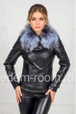 Кожаная куртка на межсезонье