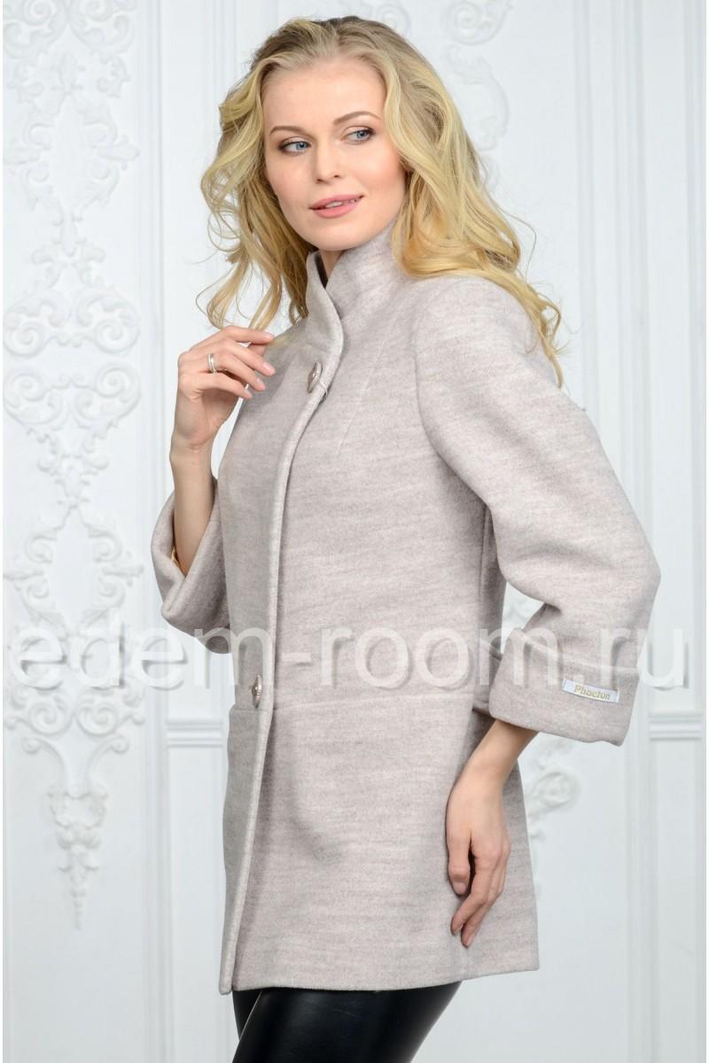 Пальто из трикотажа