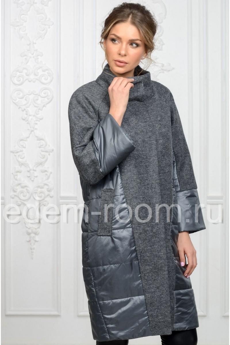 Комбинированное пальто