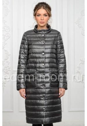 Удлинённое женское пальто для весны и осени