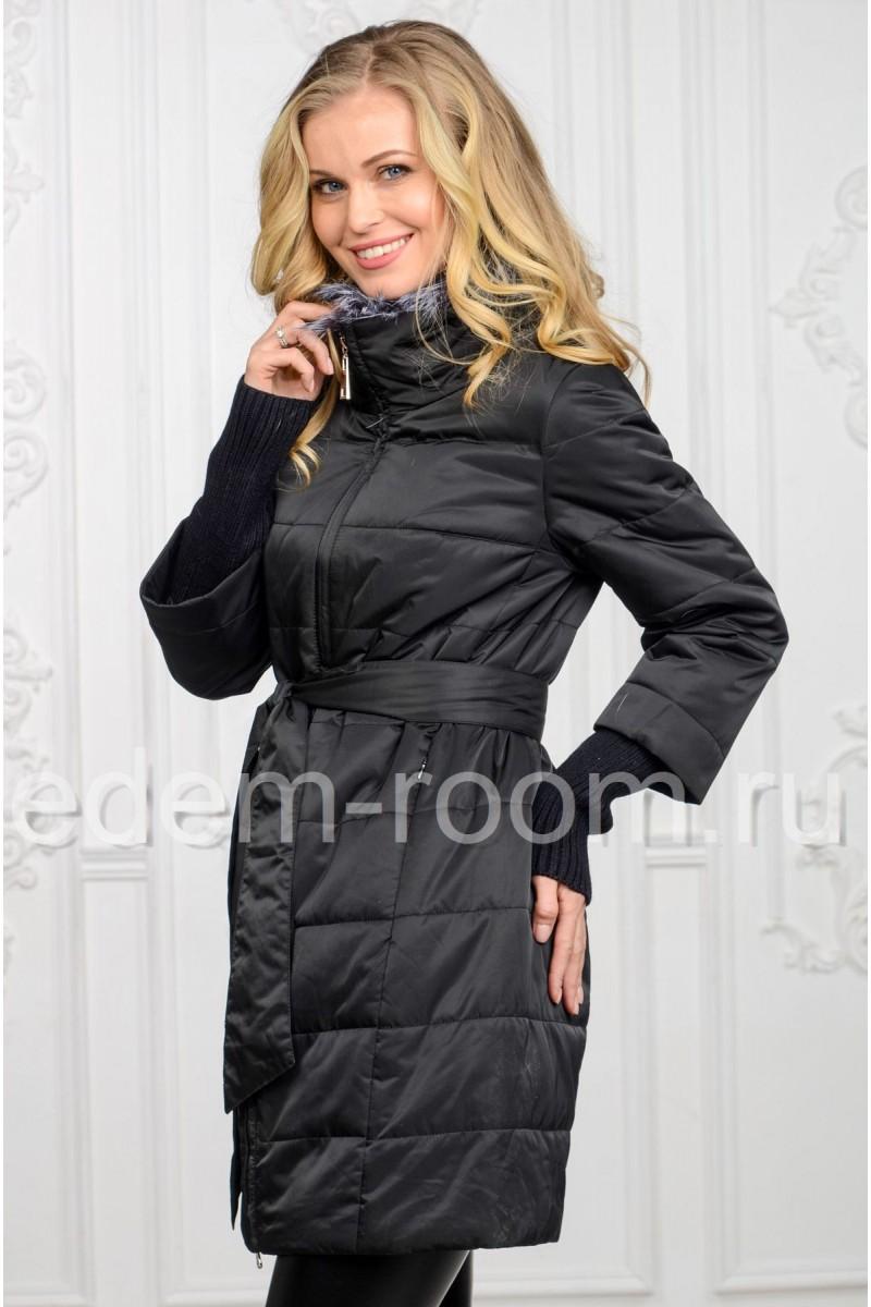 Демисезонное тканевое пальто
