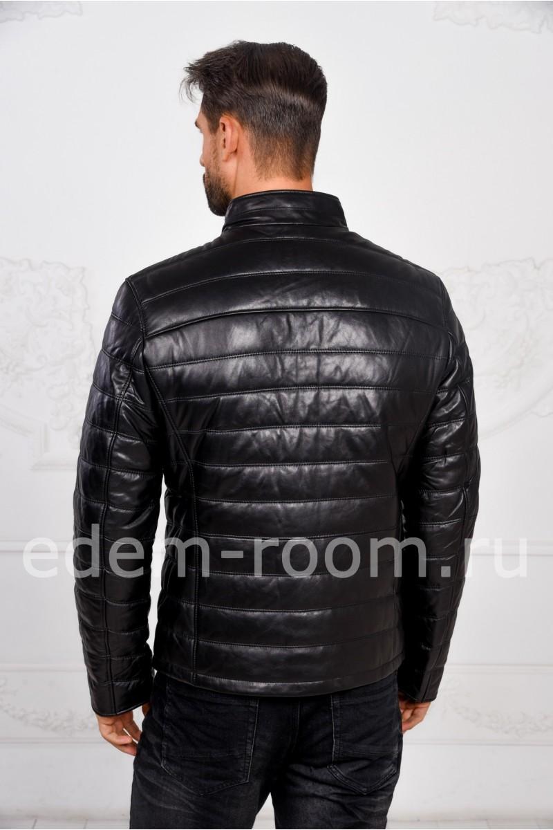Демисезонная мужская кожаная куртка