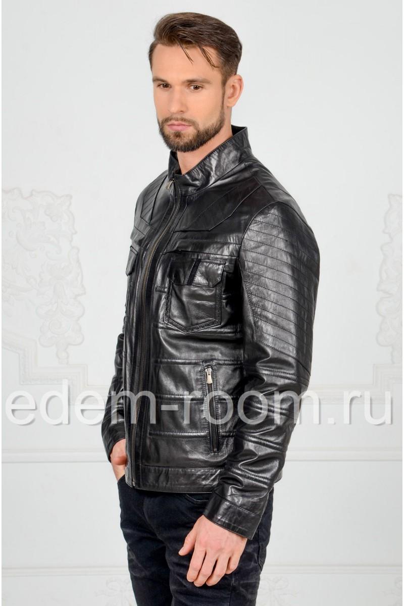 Мужская кожаная куртка для весны