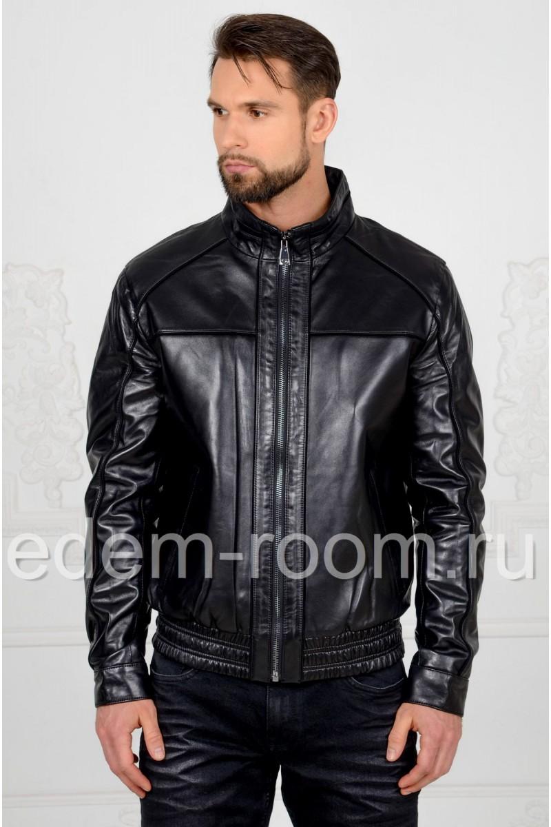 Кожаная куртка - бомбер