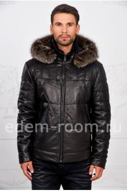 Мужская тёплая куртка с капюшоном