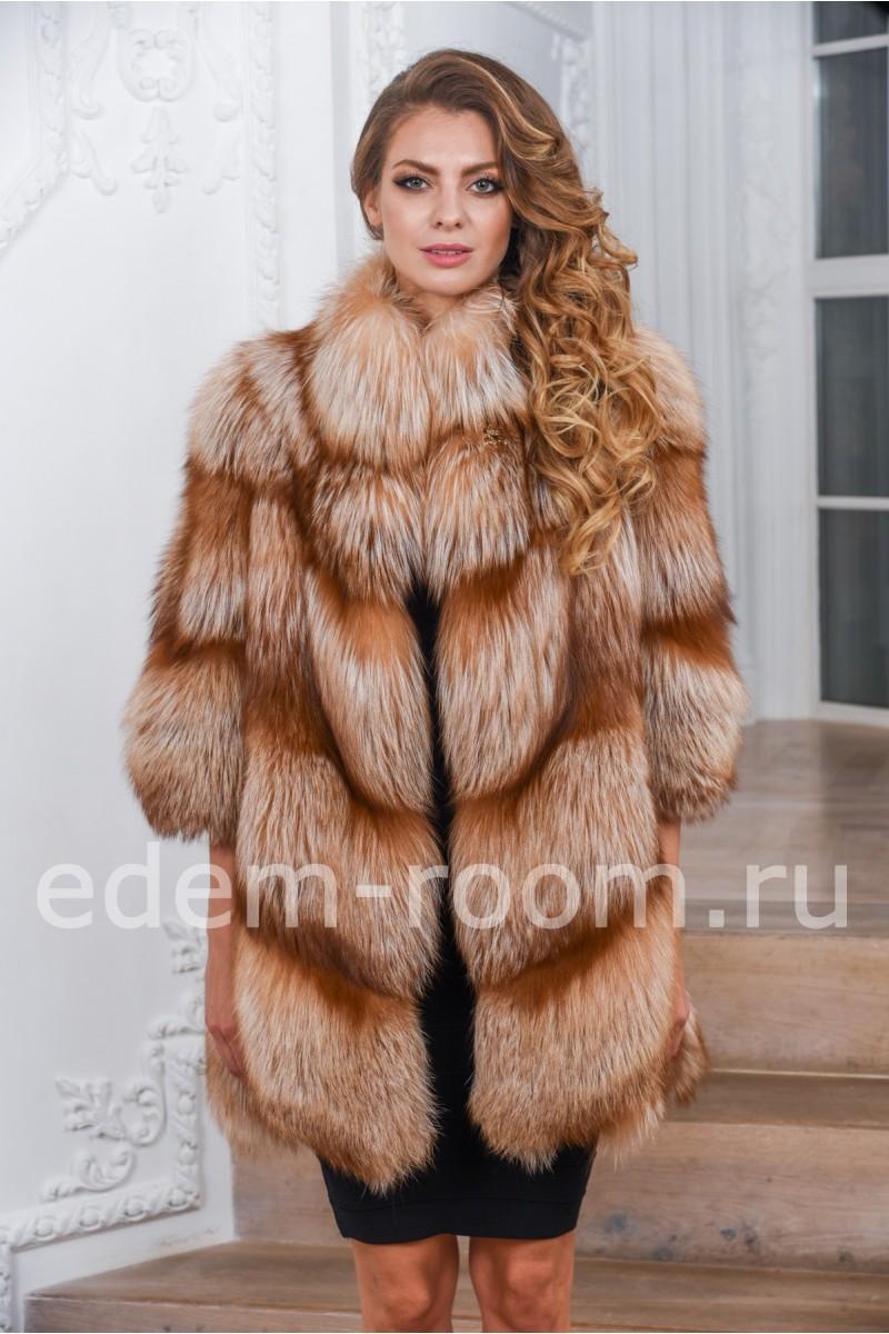 Новинка 2018 Шуба из лисы